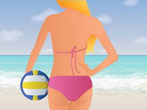Beach Volleyball Illustration Royalty Free Stock Photos