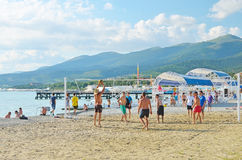 Beach volleyball in Kabardinka, Russia Stock Photography