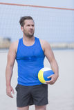 Beach volleyball male player Royalty Free Stock Image