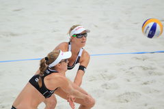 Beach volleyball - Marketa Slukova and Kristyna Kolocova Stock Photo