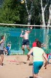 Beach Volleyball men Stock Photos