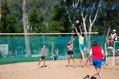 Beach Volleyball men Stock Images