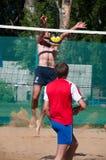 Beach Volleyball men Royalty Free Stock Photos