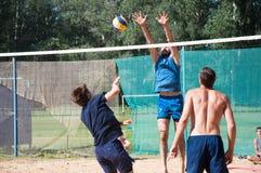 Beach Volleyball men Royalty Free Stock Photo
