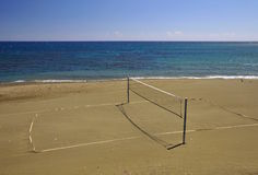 Beach volleyball net Royalty Free Stock Photography