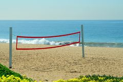 Beach Volleyball Net 2 stock image
