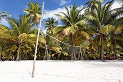 Beach volleyball net Stock Photography
