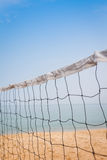 Beach volleyball net Stock Images