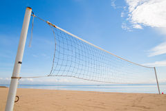 A beach volleyball net Stock Photography