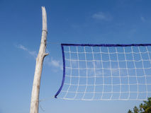 Beach Volleyball Net Stock Image