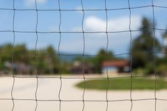 Beach volleyball net Stock Photography