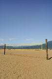 Beach Volleyball Net. A beach volleyball net on Locarno beach, Vancouver, BC, Canada Royalty Free Stock Images