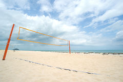 Beach Volleyball net on the beach Royalty Free Stock Image