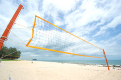 Beach Volleyball net on the beach Stock Images