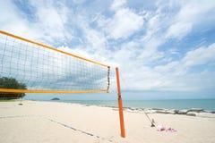 Beach Volleyball net on the beach Stock Photography