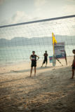 Beach Volleyball net at the beach, sports concepts Stock Photos