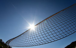 Beach volleyball net in blue sky Stock Photography