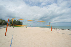Beach Volleyball net Stock Photo