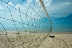 Beach volleyball net with clearly sky Stock Photography