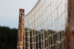 Beach volleyball net over sky Stock Images