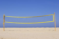 Beach volleyball net on sandy Royalty Free Stock Image