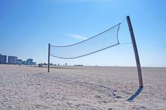 Beach volleyball net. A beach Volleyball net in silhouette, Upham Beach, FL Stock Image