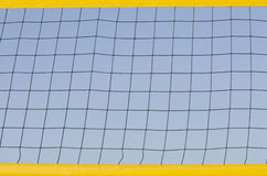 Beach volleyball net on sky Stock Image