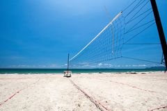 Beach volleyball nets Stock Photos