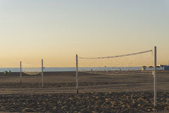 Beach volleyball. Royalty Free Stock Photography