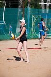 Beach volleyball play girls, Stock Photography