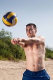 Beach Volleyball Player Stock Photography