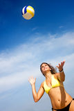 Beach volleyball player Stock Photos