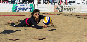 Beach volleyball player Royalty Free Stock Image