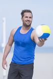 Beach volleyball player portrait Stock Photography