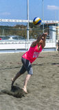 Beach volleyball player Stock Photo