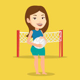 Beach volleyball player vector illustration. Stock Images