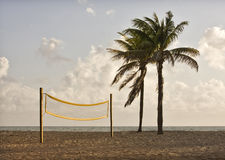 Beach volleyball playing court Stock Photo