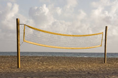 Beach volleyball playing court and net Royalty Free Stock Photography