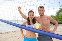 Beach volleyball portrait of people looking Stock Images