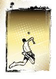 Beach volleyball poster background Royalty Free Stock Photography