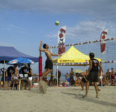 Beach volleyball. 3rd meeting sand volleybal - 7/8 september igea marina italy Royalty Free Stock Photography