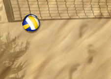 Beach volleyball on sand. Sport background with space Stock Photography