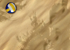 Beach volleyball on sand Royalty Free Stock Photography