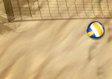 Beach volleyball on sand Stock Photo