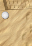 Beach volleyball on sand Stock Image