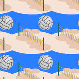 Beach volleyball seamless background design Royalty Free Stock Photo