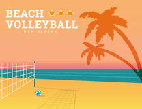 Beach volleyball season Royalty Free Stock Photography