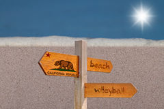 Beach Volleyball Sign Stock Images