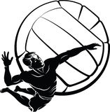 Beach Volleyball Spike Stock Images