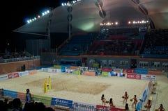 Beach volleyball stadium Stock Image